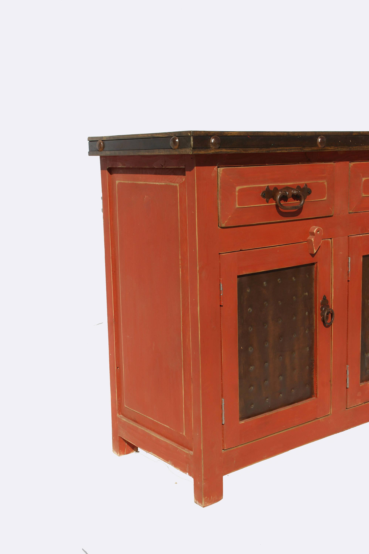 Rustic Red Bathroom Vanity Metallo Trinitas Moreno S Furniture